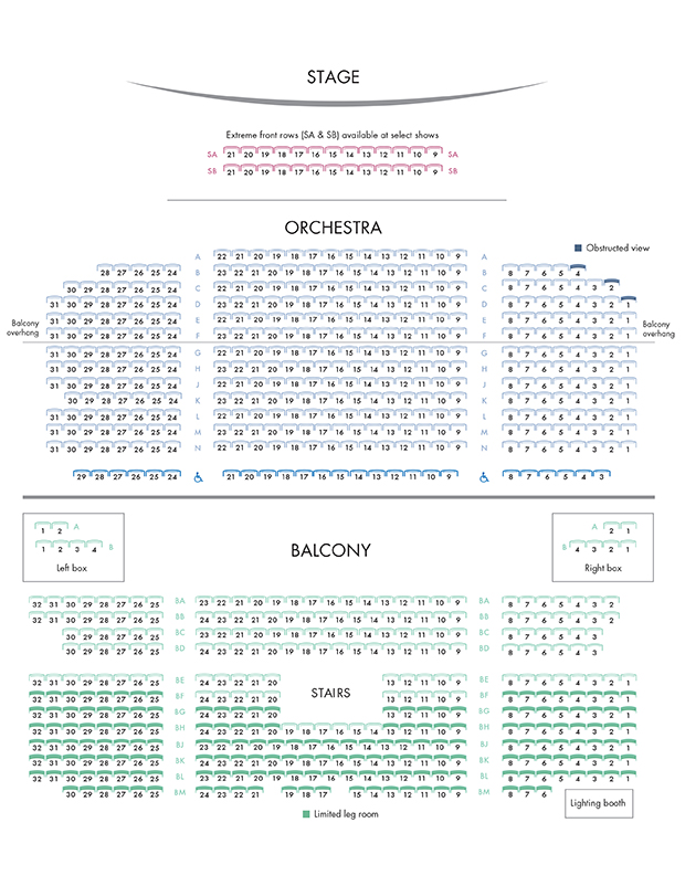 Booth Theater Seating Chart