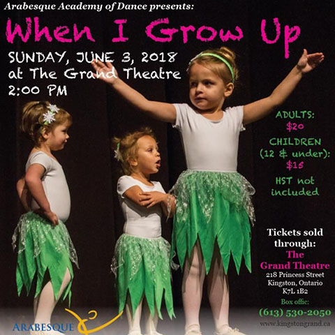 Arabesque Academy of Dance - When I Grow Up!