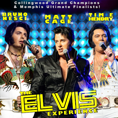 Three Elvis' on poster