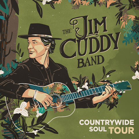 Cartoon cover of Jim Cuddy's new release