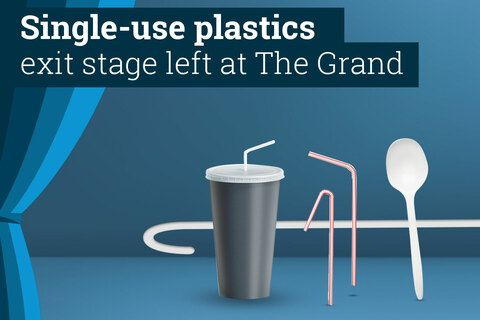Single-use plastic graphic
