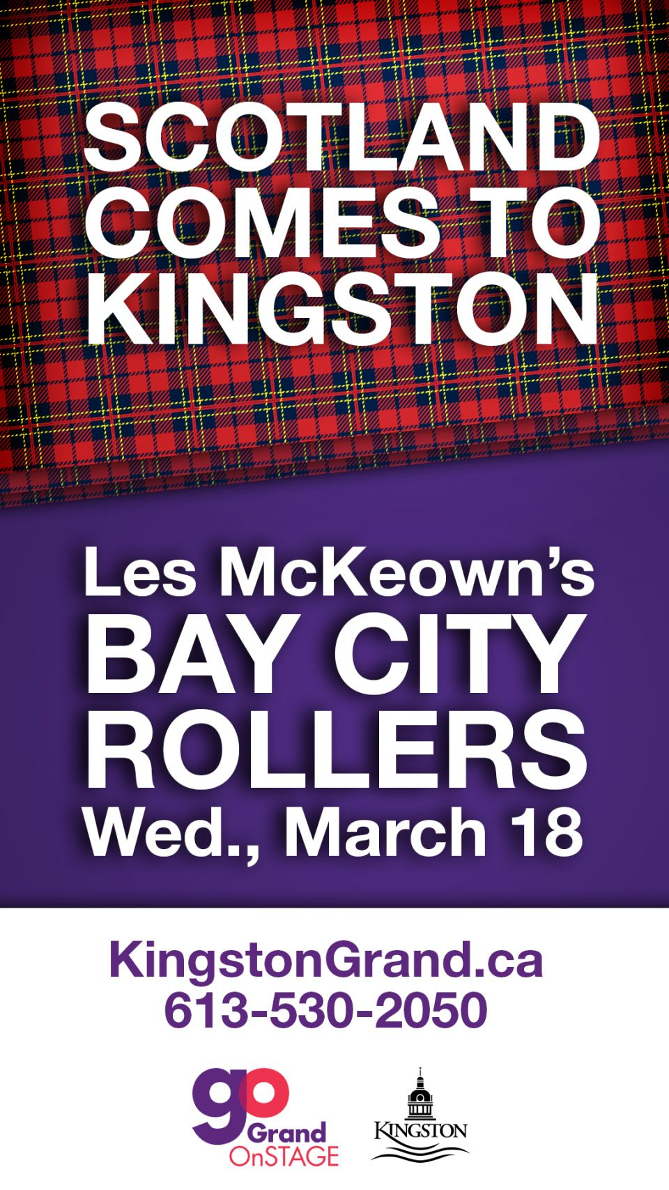 Scotland comes to Kingston / Bay City Rollers