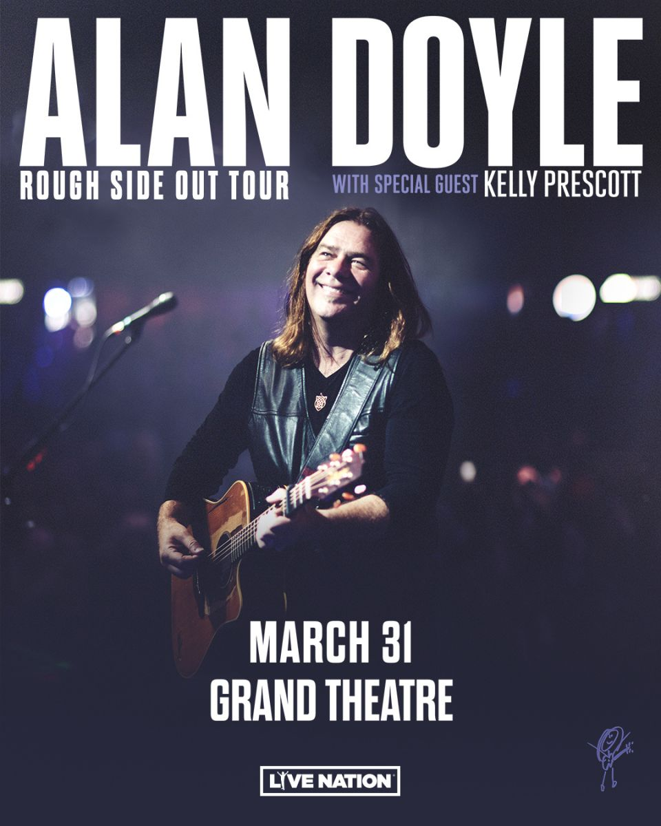 Poster of Alan Doyle on stage